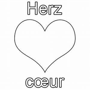 Ich Weiß Französisch : kostenlose malvorlage franz sisch lernen herz c ur zum ausmalen ~ Watch28wear.com Haus und Dekorationen