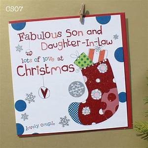 Son And Daughter In Law Christmas Cards - Christmas Lights