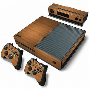 Custom Skin for Microsoft XBOX One console Wood Grain ...