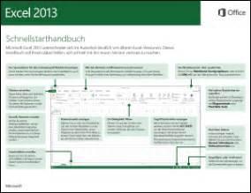excel 2013 schnellstarthandbuch