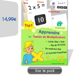 site pour apprendre les tables de multiplication pack pour apprendre les tables de multiplication