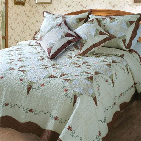 bedspreads and quilts dada bedding cottage floral ivory brown quilt coverlet