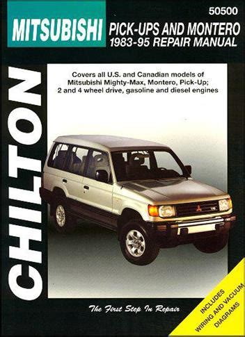 chilton car manuals free download 2004 mitsubishi montero interior lighting mitsubishi pick up montero 1983 1995 chilton owners service repair manual 0801986664