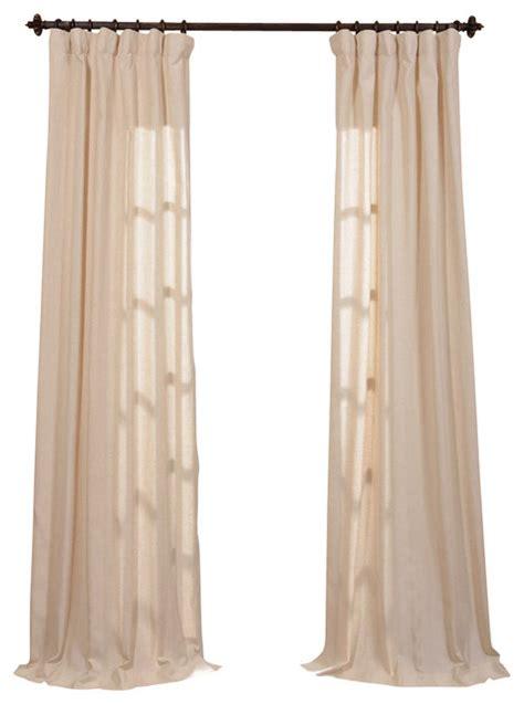 lanai linen blend stripe curtain single panel