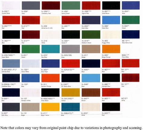 toyota paint colors 1984
