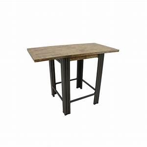 Table Bar Bois : table carree bois metal maison design ~ Teatrodelosmanantiales.com Idées de Décoration