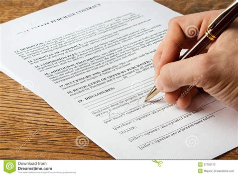 Real Estate Contract Signing Stock Photo