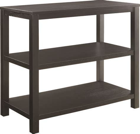combine tables in r ave six merge foyer table with shelves and solid wood legs