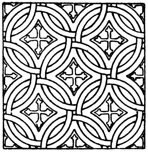 mosaic square pattern clipart