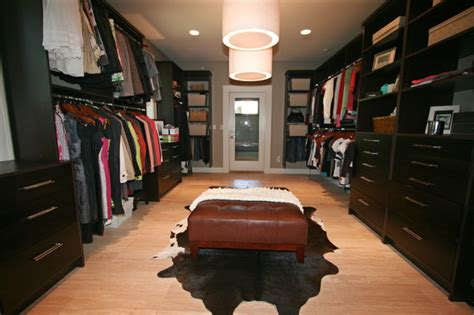 master walk in closet contemporary closet by