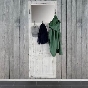 Garderobe Wandgarderobe Mit Spiegel Wandhaken 180x65x7cm