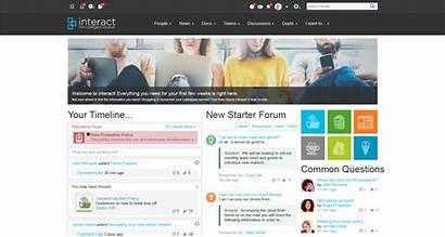 Intranet Hr Starter Homepage Department Interact Business