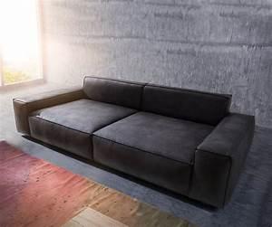 Big Sofa 250 Cm : bigsofa sirpio anthrazit 270x125 cm kedernaht vintage mit kissen big sofa ~ Bigdaddyawards.com Haus und Dekorationen