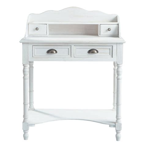 bureau secretaire blanc bureau secrétaire en bois blanc l 80 cm joséphine