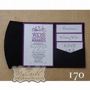 a6 pocketfold with inserts wedding invitation 170 mycards With wedding invitations with pocket inserts