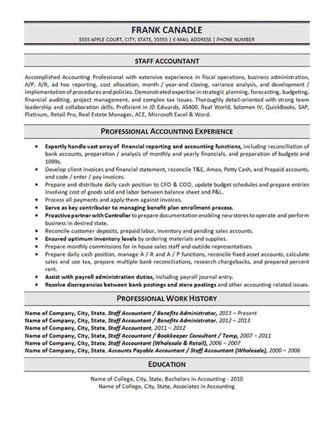 staff accountant resume