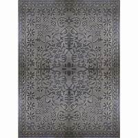 home depot rugs Lanart Rug Vintage Grey 8 ft. x 10 ft. Indoor Transitional ...