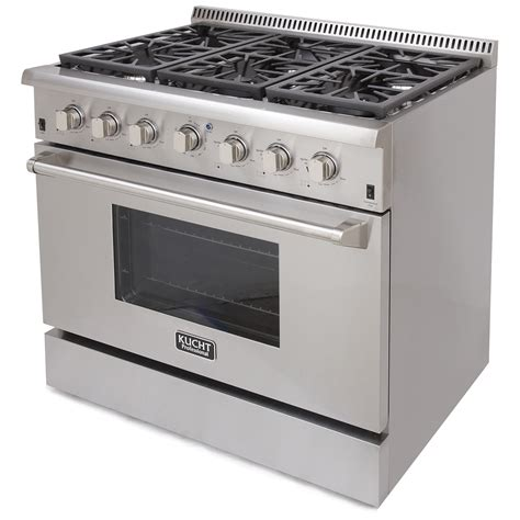 kucht 36 professional gas range krg3618u stainless steel convection oven all major appliances llc
