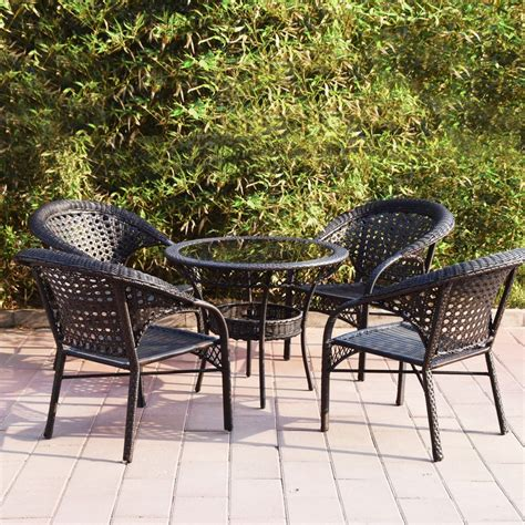 outdoor furniture tables only adeco wicker patio furniture dinning set dinning table