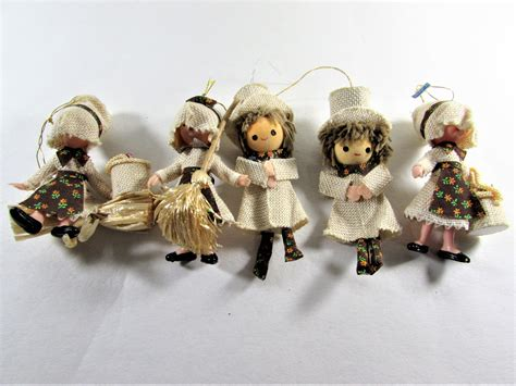 vintage burlap boys and girls holiday ornaments