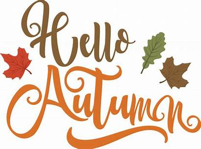 Hello Fall Autumn Transparent Clipart Word Computer