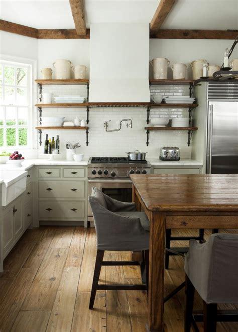 la cuisine style campagne decors chaleureux vintage