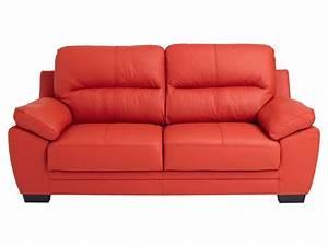 Canapé Cuir Conforama : conforama canape cuir rouge table de lit ~ Teatrodelosmanantiales.com Idées de Décoration