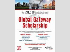 Global Gateway Scholarship Due March 1st! Announce