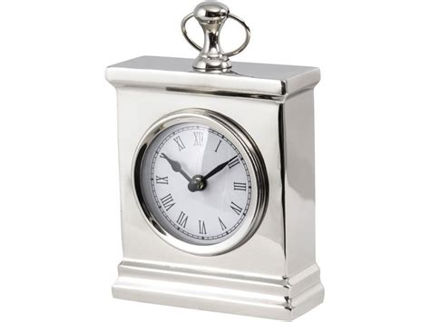 desk chairs modern silver mantel clock traditional metal carriage clock