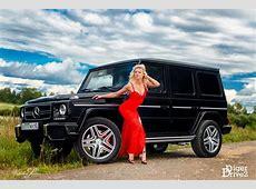 Girls Mercedes G63 AMG en Russiche babe afbeeldingen