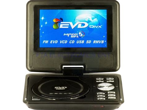 Portable Dvd Player For Car With Usb by Portable 7 5 Lcd Screen Car Evd Dvd Player Tv Tuner Usb Sd