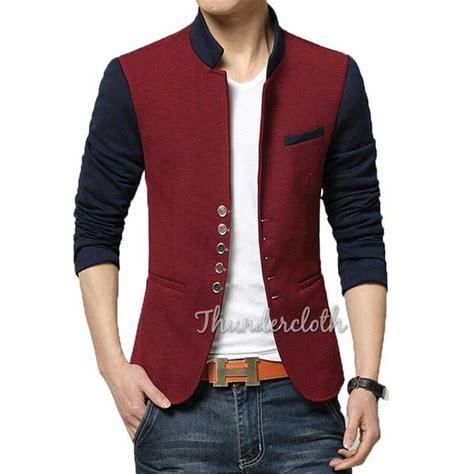 jual blazer pria model korea kerah shanghai warna