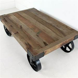 industrial coffee table with wheels wheeled coffee table With industrial wood coffee table with wheels