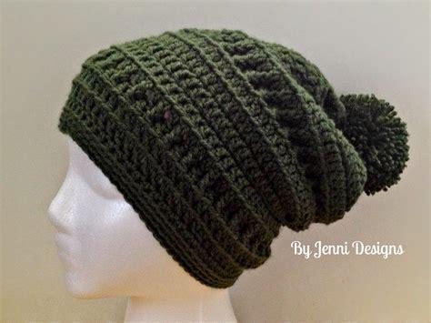 crochet beanie pattern by jenni designs slouchy textured beanie womens size free crochet pattern knit and