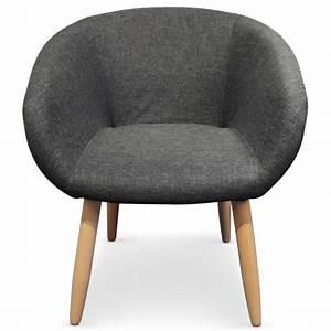 Fauteuil Chaise Scandinave : fauteuil scandinave barry gris fonc pas cher scandinave deco ~ Melissatoandfro.com Idées de Décoration