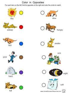 opposites worksheet images opposites worksheet