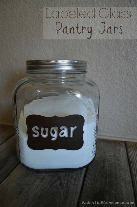 vinyl labeled glass pantry jars eclectic momsense