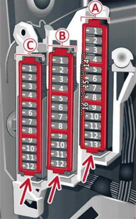 How To Open Audi Fuse Box by Audi A6 C7 2010 2016 Fuse Box Diagram Auto Genius