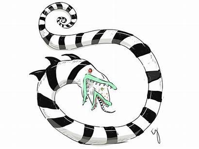 Sandworm Beetlejuice Snake Worm Dribbble Fan Eve