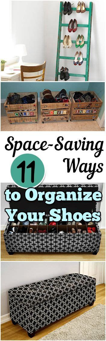 organize shoes in small space 11 space saving ways to organize your shoes ottomans love the and ideas