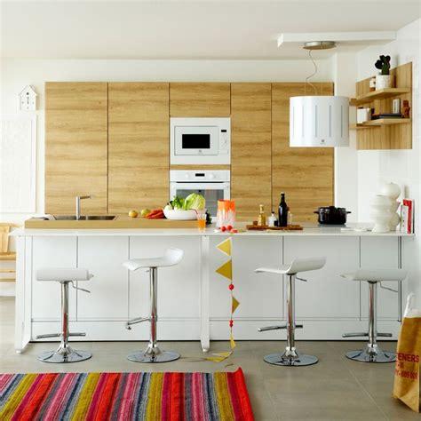 cuisine ouverte avec ilot table cuisine avec coin repas table bar îlot pour manger