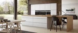 Plan De Travail Ilot : plan de travail en bois massif chaleureux moderne et ~ Premium-room.com Idées de Décoration