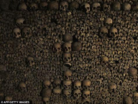paris catacombs  skulls  bones  frances