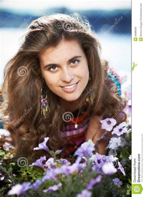 beautiful next door beautiful next door with purple flowers royalty