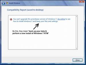 Upgrade From Windows 7 RC To Final Version Without New ...