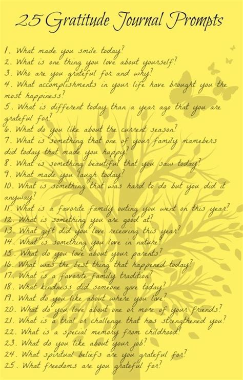 gratitude journal prompts  questions  ideas    journal writing easy
