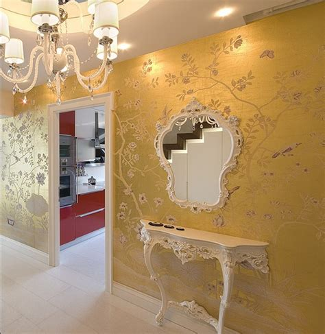chinoiserie hand painted wallpaper  behance