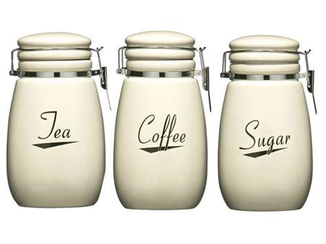 Cream Coronet Kitchen Ceramic Storage Canisters Jars Set