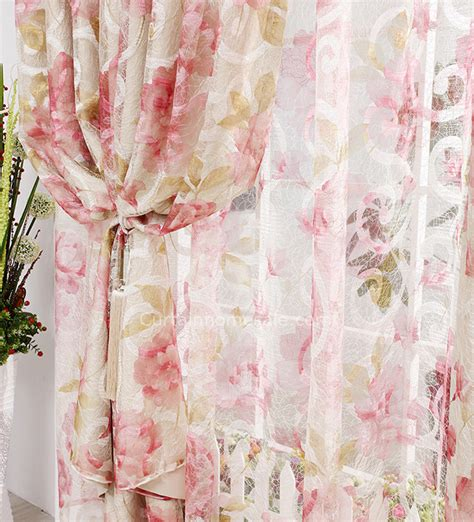 Shabby Chic Bedroom Curtains by Princess Insulated Patterned Embroidery Pink Shabby Chic