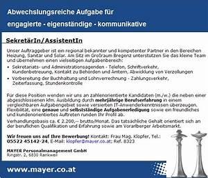 Teilzeitgehalt Berechnen : sekret rin assistentin bregenz jobs in vorarlberg ~ Themetempest.com Abrechnung